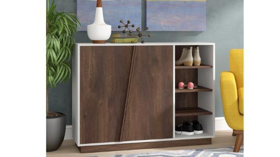 Mercury Row 16-Pair Shoe Storage Cabinet