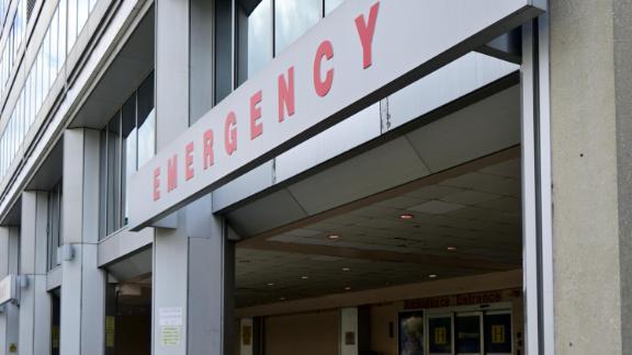 The emergency entrance of a hospital in Philadelphia in 2019.