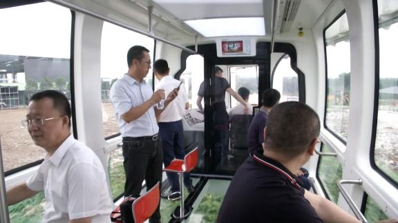 The train can travel about 80 kilometers (50 miles) per hour.