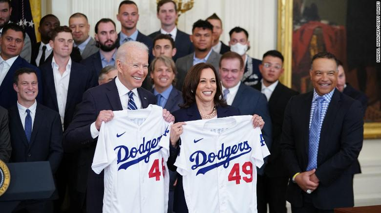 Biden celebrates LA Dodgers win and a return to normal