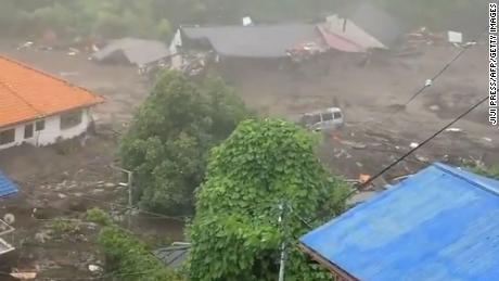At least 20 people are missing after the mudslide hit the coastal town.