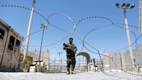 Al Qaeda and Taliban members among thousands of prisoners left under Afghan control in jail next to the deserted US air base