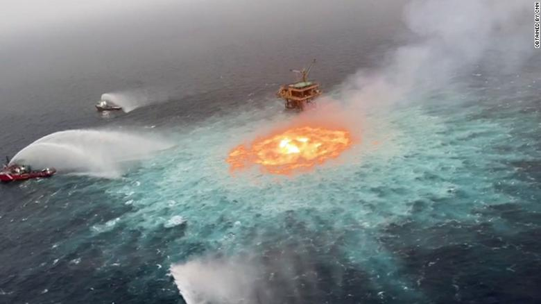 Gas leak responsible fire for 'Eye of fire' in Mexican waters, says Mexican oil company