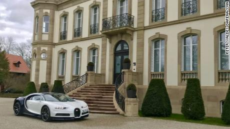 Bugatti Chiron at Bugatti's headquarters in France