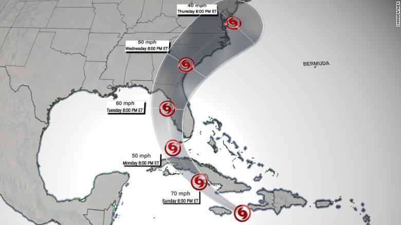 Tropical Storm Elsa could bring wind and rain to much of South Florida 210704021246-tropical-storm-elsa-track-exlarge-169