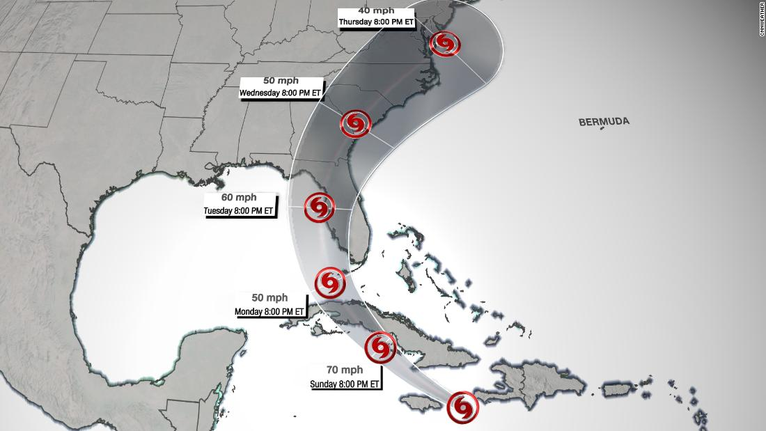 The official hurricane forecast track could be confusing the public