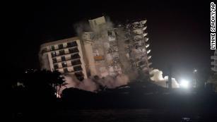Video shows demolition of remainder of Surfside building