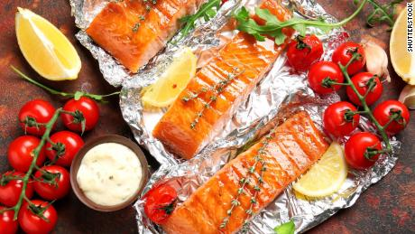 Cook your salmon fillets in foil on the grill.