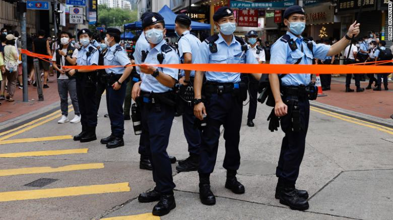 Hong Kong police reveal alleged plot to bomb train stations and courts