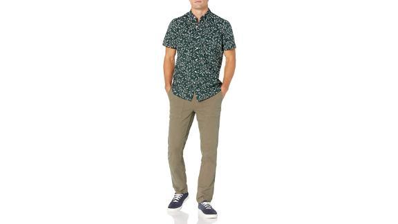 Goodthreads Standard-Fit Short-Sleeve Printed Poplin Shirt