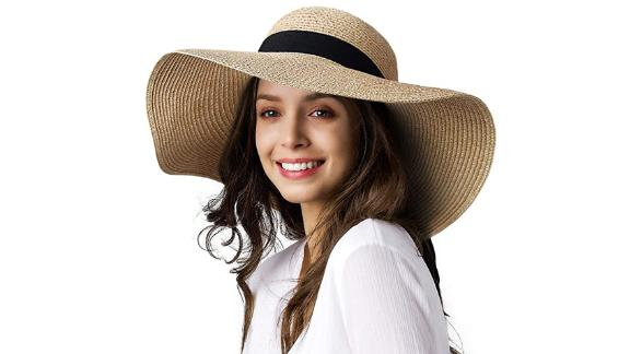 Furtalk Wide-Brim Sun Straw Hat