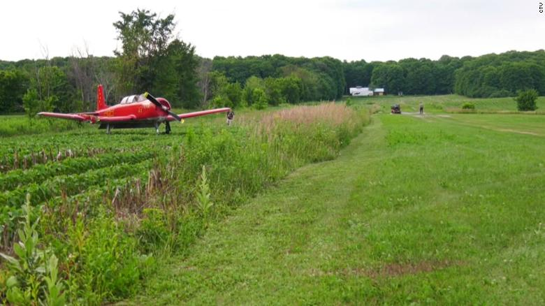 A woman mowing the lawn at a Canadian airstrip is struck and killed by a small plane making a landing