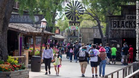 Consumers are flockng back to theme parks. Cedar Fair-owned Knott's Berry Farm was open for the public in late May to celebrate the park's 100th anniversary.