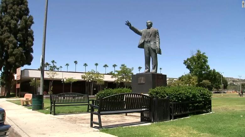 'Horrific' Graffiti on Martin Luther King Jr Statue in Southern California Being Investigated as Hate Crime