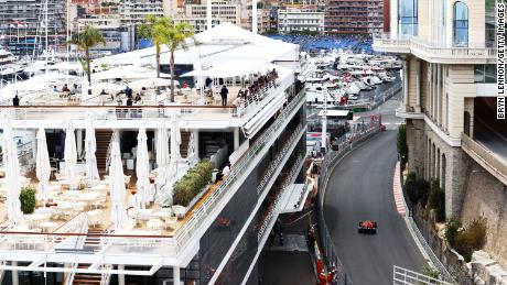 Leclerc drives during qualifying for the Monaco Grand Prix on May 22, 2021 in Monte-Carlo.
