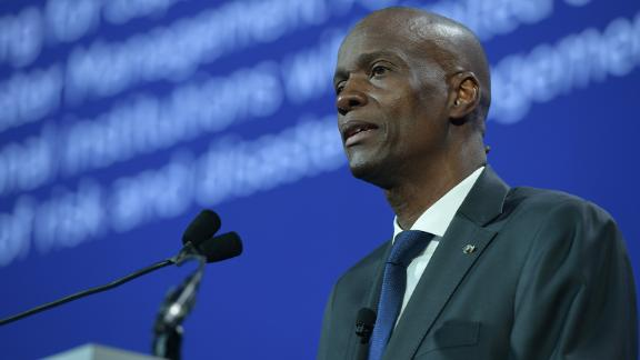 Jovenel Moise speaks during the 2018 Concordia Annual Summit in New York on September 25, 2018.