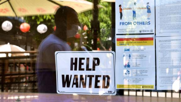 Restaurants are hiring workers as they reopen their doors.