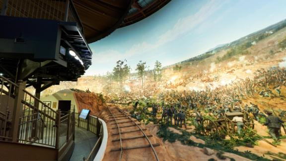 The cyclorama was created by 17 German artists in 1886.