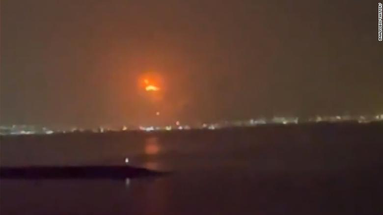 Fire rips through Dubai port after explosion inside a ship's container
