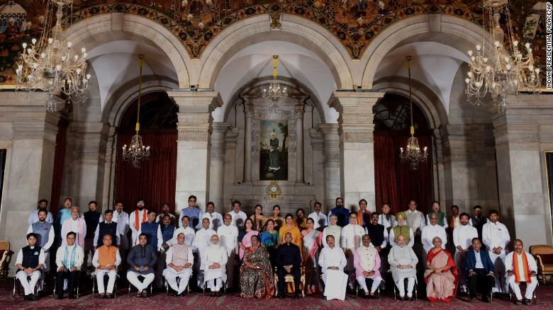Some 43 new members from Modi's ruling Bharatiya Janata Party (BJP) and other allied regional parties were sworn in at the presidential palace.