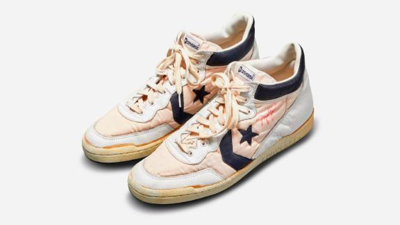 Converse Fastbreak sneakers worn by NBA great Michael Jordan during the 1984 Olympic Trials.