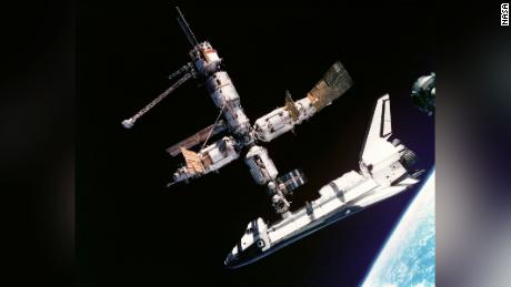 An international space cooperation began in June 1995, when space shuttle Atlantis docked with the Russian space station Mir for the first time.  - 210708115513 04 nasa space shuttle moments scn large 169 - NASA's Space Shuttle Program: 8 pivotal moments
