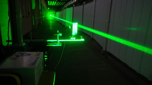 The one-year pandemic delay let the team run more tests of the laser in a lab in Paris, pictured here.