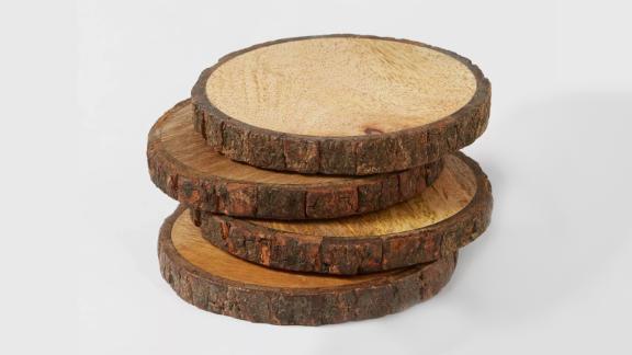 Live Edge Wood Coasters, Set of 4