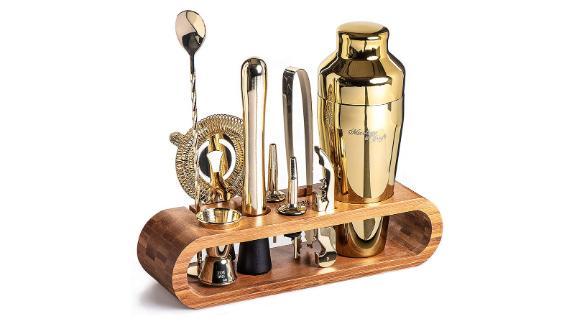 Mixology Bartender Kit: 10-Piece Bar Tool Set