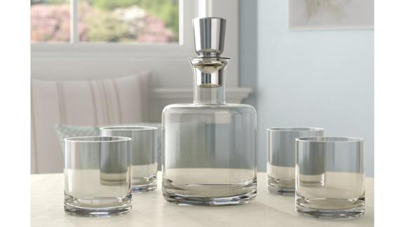 Giselle 5-Piece Whiskey Decanter Set