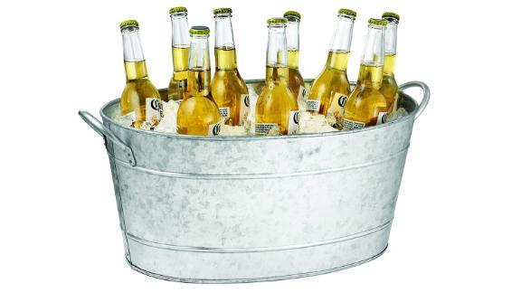 Tablecraft Galvanized Oval Beverage Tub
