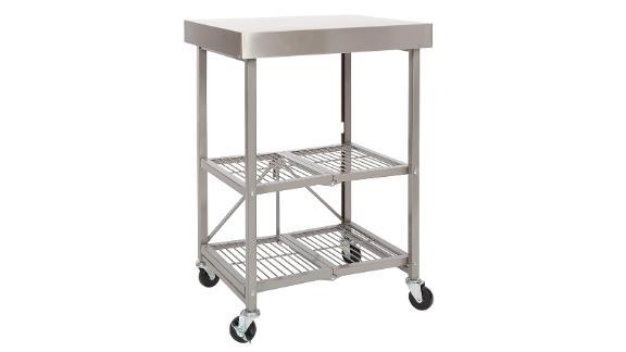 Origami Folding Kitchen Cart on Wheels