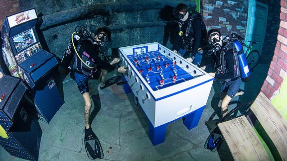 Have you really played foosball if you've never played it underwater?