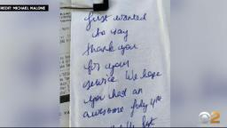 Vietnam Veteran Michael Malone Gets Surprising Gift Of Gratitude From Anonymous Couple At New Jersey Restaurant – CBS New York