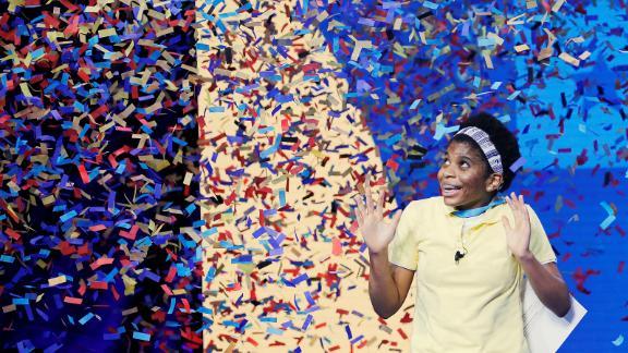 Zaila Avant-garde, 14, of New Orleans wins 2021 Scripps National Spelling Bee Finals at ESPN Wide World of Sports Complex at Walt Disney World Resort in Lake Buena Vista, Florida, July 8, 2021.