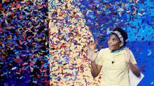 Zaila Avant-garde, 14, from New Orleans, Louisiana, wins the 2021 Scripps National Spelling Bee Finals at the ESPN Wide World of Sports Complex at Walt Disney World Resort in Lake Buena Vista, Florida, U.S. July 8, 2021.  REUTERS/Joe Skipper