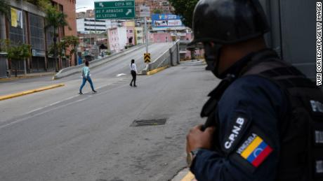 Major roads have been closed due to the violence, but residents remain.