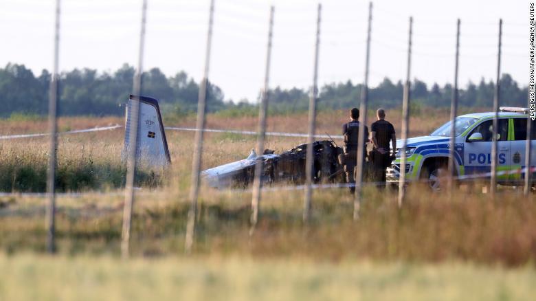 Swedish plane crash kills eight skydivers and pilot