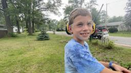 8-year-old mowing 50 lawns for free in Muskegon County