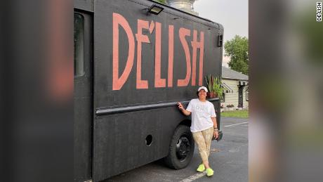 Jasmine Brown, owner of the De'Lish food truck