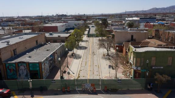 A street in the Duranguito neighborhood in Downtown El Paso.