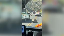 California earthquake sends boulders tumbling onto major highway