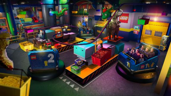 The Lego Factory Adventure puts you in the middle of construction.