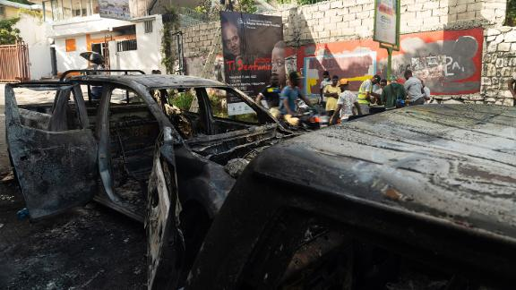 Violence broke out after Haiti's President was assassinated on Wednesday.