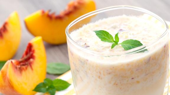 Overnight oats are a delicious way to enjoy peaches for breakfast.