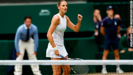 After a nervous start, Karolina Pliskova improved as the match went on.