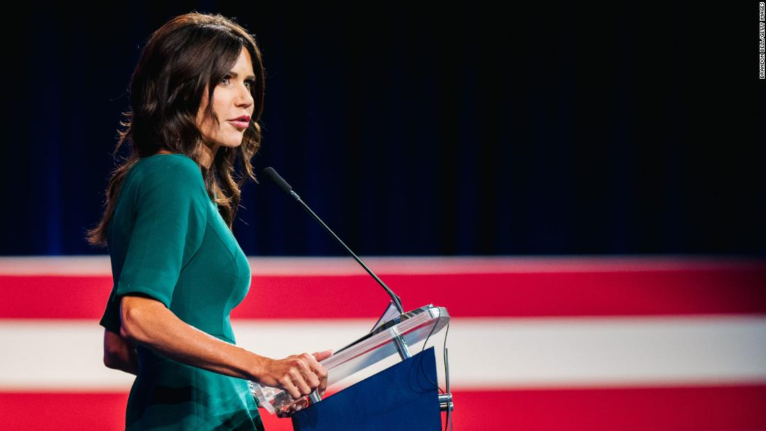 Speaking at CPAC, the South Dakota governor and potential White House contender tried to draw a sharp contrast between her and her possible 2024 opponents