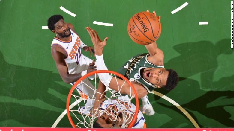 'I'm no Michael Jordan,' says Giannis Antetokounmpo after dominant Game 3 performance to keep NBA Finals hopes alive