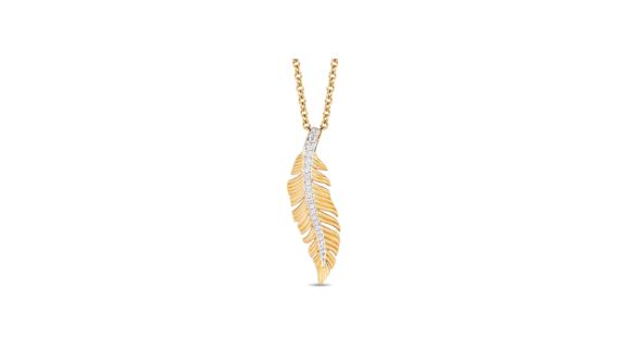Enchanted Disney Pocahontas Diamond Feather Pendant