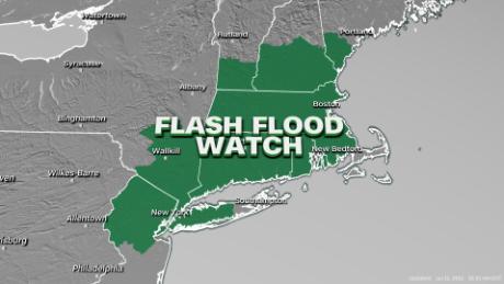 Flood watches span the Northeast through midweek.
